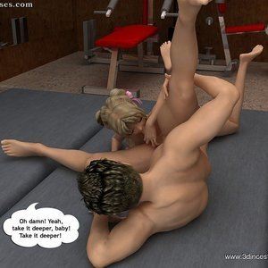 Daughter helps her daddy in training Porn Comic 3DIncestAnime Comics 011