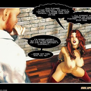 Hip Gals - The Defeat of Scarlet Lass Sex Comic HIP Comix 126
