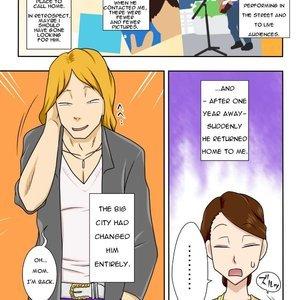 My Son Returned as a Blond Man-Slut Cartoon Comic Hentai Manga 004