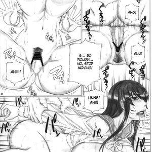 Back Squeeze - Busujima Senpai Apocalypse Porn Comic Hentai Manga 007
