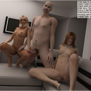 Dyke sisters assessed Cartoon Porn Comic