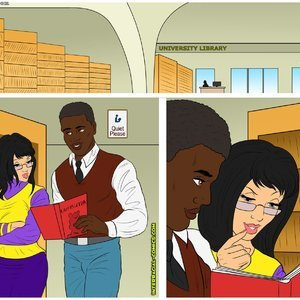 Porn Comics - University Library Cartoon Porn Comic